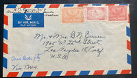 1950s Saudi Arabia Airmail Cover To Los Angeles Ca USA TWA