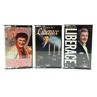 Liberace Cassette Tapes Lot of 3 1985 MCA Records 1987 Richmond Mfg