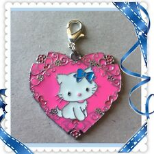 ❤️ Hello Kitty Pink Heart ❤️ Zipper Pull Charm with Lobster Clasp /Brand New