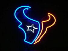 "Houston Texans Neon Sign Beer Bar Texas 19""x15"" Lamp Poster Artwork Man Cave"