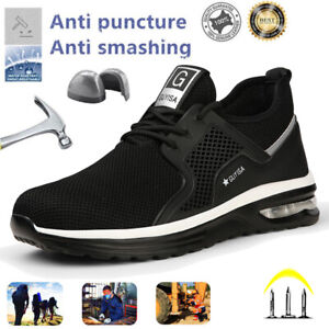 Mens Safety Trainers Lightweight Steel Toe Cap Women Work Shoes Hiking Boots UK9
