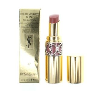 Yves Saint Laurent Pink Lipstick Rouge Volupte 47 Beige Blouse Brand New
