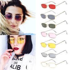 Fashion Vintage Glasses Women Square Shades Small Rectangular Frame Sunglasses