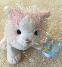 WEBKINZ PINK & WHITE PLUSH CAT KITTEN HM 189 EUC VALENTINE'S DAY gift stuffed