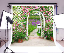 Secret Garden Romantic Vinyl Photography Background Wooden Floor Photo Backdrops