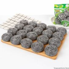 Cleaning Tool Stainless Steel Ball Brush Pot Washing Dish Wire For Kitchen 10pcs