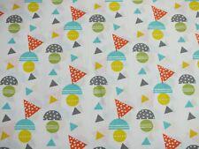 Baumwolle Baumwollstoff Kreis Triangle Dreieck bunt Meterware Kinderstoff