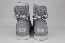 UGG ADORIA TEHUANO SUEDE WOOL LEATHER BOW BOOTS PENCIL LEAD COLOUR SIZE 11 US