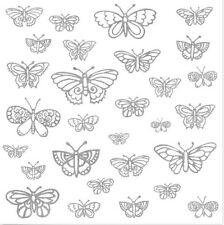 BUTTERFLIES glitter wall stickers 29 girl's silver decals fluttering teen