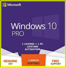 Win 10 PRO KEY INSTANT Professional 32/64 BIT Genuine Activation License KEY