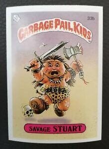 Savage Stuart 33b UK Garbage Pail Kids Series 1(1985)Topps~NMT/MINT~Pack Fresh