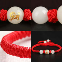 Lovers Chinese Zodiac Bracelet Braided Red Rope Noctilucence Jewelry