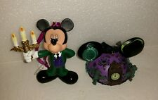 Disney Mickey Usher Figure Haunted Mansion Ear Ornament Set