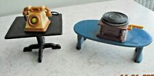 """Dolls House Tables/Telephone/Record Player (Other items available) H 1.5"""""""