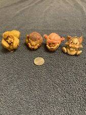 Harmony Kingdom ~Walt Disney Set~LUCIFER~FIGARO~PEG~CHESHIRE CAT ~ Figurine LOT~