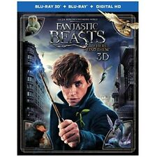 Fantastic Beasts and Where to Find Them (Blu-ray/DVD, 2017, 3D) NEW