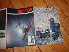 Tamron Automatic Lens Vintage Sales Brochure Photography Camera