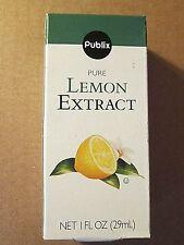 Publix Pure Lemon Extract For Baking Cooking Net 1 FL oz Bottle in Box