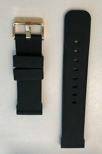 Original Bulova Marine Star 98B278 Black Rubber 24mm Watch Band Strap Bracelet