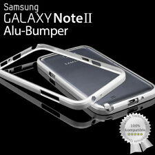XAiOX® SAMSUNG GALAXY NOTE 2 CNC ALU BUMPER ALUMINIUM METAL CASE COVER SILBER