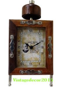 "Nautical Beautiful Maritime Brown Wooden frame desk 4.5"" Clock Decor"