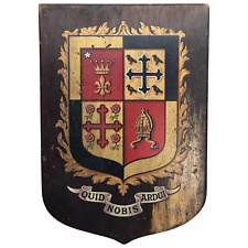 More details for vintage 20th century kensington & chelsea town hall coat of arms wall plaque
