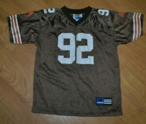 VTG Cleveland Browns Courtney Brown Football Jersey Youth 5-6 Adidas Nice 90s