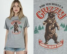 New listing Vintage 80s Grizzly Canadian Beer Bear Heather Grey Triblend Rayon Tee T Shirt