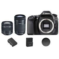 Canon EOS 80 D / 80D DSLR Camera Body + 18-55mm IS  STM + 55-250mm IS STM Lens