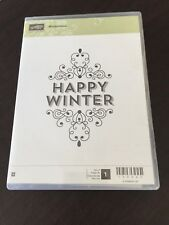 Retired Stampin' Up! WINTERTIME, Single stamp, WUM