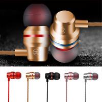 With Mic Metal Stereo Headphone Bass Earphone Sport Headset Hands Free Earbuds