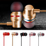 With Mic Metal Stereo Headphone Bass Earphone Sport Headset Hands Free Earbuds