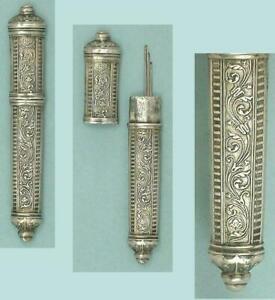 Elegant Antique French Silver Needle Case * Circa 1890s