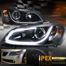 2008-2009 Pontiac G8 Brightest LED DRL Projector Headlights Smoked-Black Housing