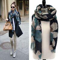 Lady Fashion Long Soft Cotton Voile Print Warm Scarves Vintage Shawl Wrap Scarf