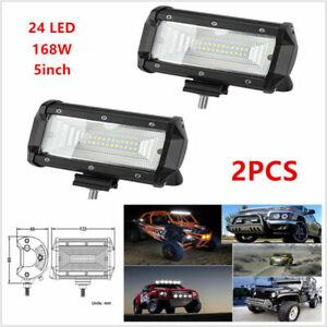 2PCS 168W Flood LED Car SUV Off Road Work Light Bar Fog Driving DRL Lamp 10- 30V