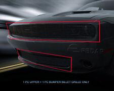 Fits 2015-2017 Dodge Challenger Black Billet Grille Combo Grill Insert Fedar