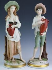 PAIR Florence Italian Giuseppe Armani Boy & Girl Art Sculpture Figures