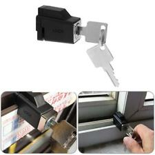 Aluminum Alloy Child Kid Safety Sliding Window Restrictor Lock with 2 Keys Black