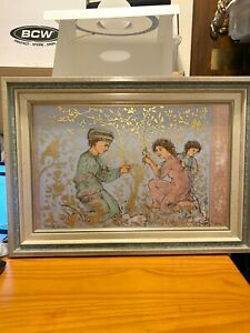 Edna Hibel Stone Lithograph on Porcelain Unidentified 46/50 VIA 350
