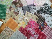 DOLLS HOUSE ,**50** FOUR INCH  CRAFT SQUARES, CURTAINS, CUSHIONS, ETC