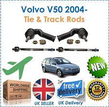 For Volvo V50 2004- 2 Inner & 2 Outer Steering Track Rack Tie Rod End Set New