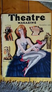 """RARE November 1929 Theatre Magazine with """"Show Girl"""" cover by Andre Durenceau"""