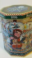 Vintage 1996 Andes Mints Candy Octagon Collector's gift tin novelty Christmas