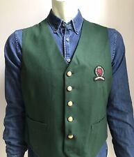 Vintage Tommy Hilfiger Vest, Prep School Hunter Green, Size Large, NWOT