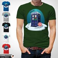 Doctor Who Christmas Design T-Shirt, Life of Doctor Spoof, Police Box Green