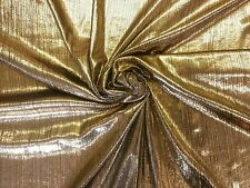 ST SHIMMER DOBBY FOIL GOLD STRETCH DRESSMAKING CRAFT CHRISTMAS HALLOWEEN FABRIC