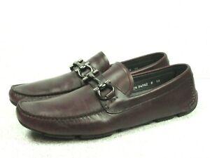 Salvatore Ferragamo Men's Parigi Loafers Burgundy Driving Shoes Size US 10
