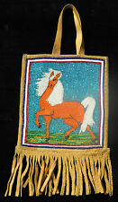 American Indian Horse Pony Bead Flat Bag Columbia River Yakima Nez Perce Plateau