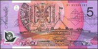 Australian Scarce Narrow Bands $5 HI95 Fraser Evans Polymer variety Issue r217ai
